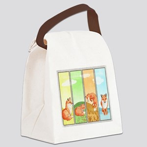 Season of the Foxes Canvas Lunch Bag