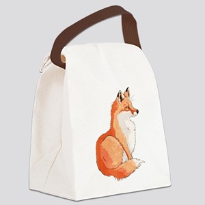 Sitting Fox Canvas Lunch Bag