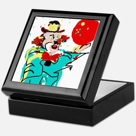 Turquoise Clown Keepsake Box