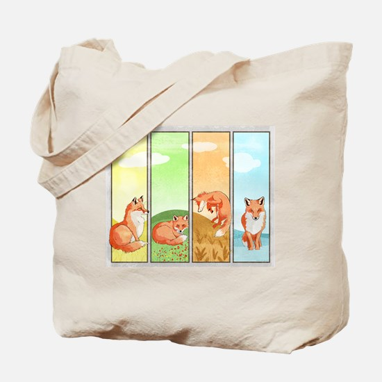 Season of the Foxes Tote Bag