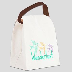Wanderlust Canvas Lunch Bag