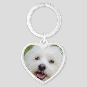 Coton de Tulear Smile Keychains