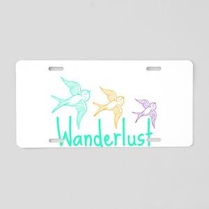 Wanderlust Aluminum License Plate
