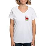 Menegucci Women's V-Neck T-Shirt