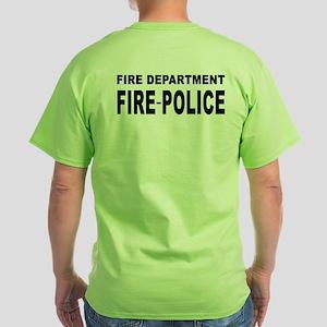 Fire Department Fire-Police Green T-Shirt