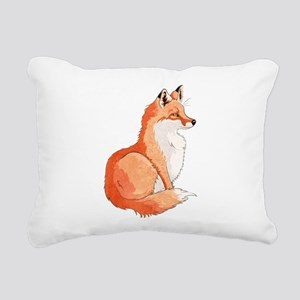 Sitting Fox Rectangular Canvas Pillow