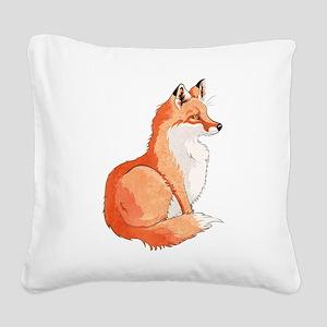Sitting Fox Square Canvas Pillow