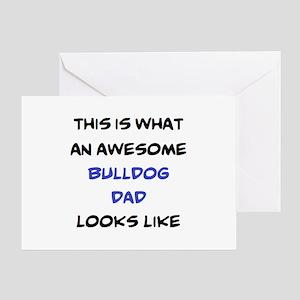 loving bulldog dad Greeting Card