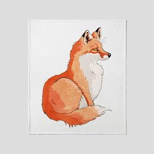 Sitting Fox Throw Blanket