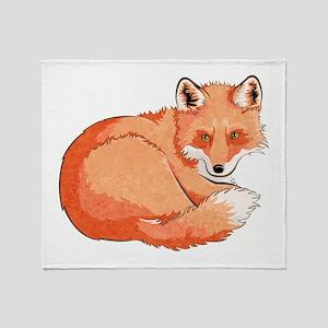 Resting Fox Throw Blanket