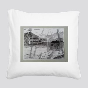 PEACE IN THE VALLEY SERIES Square Canvas Pillow