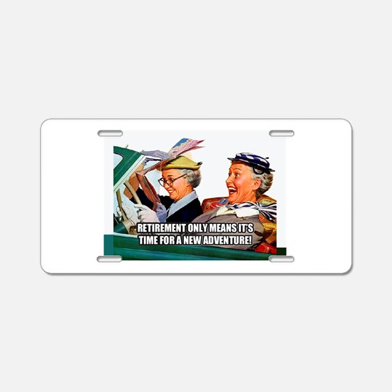 Retirement Adventure Aluminum License Plate