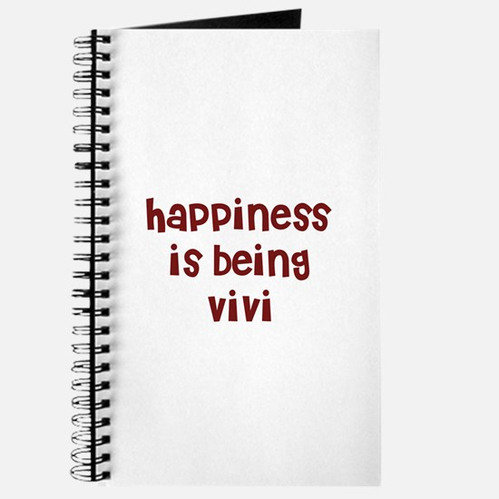happiness is being Vivi Journal