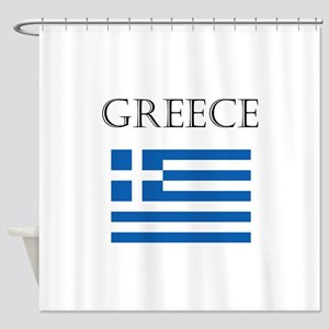 Greece Shower Curtain