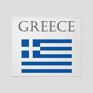 Greece Throw Blanket