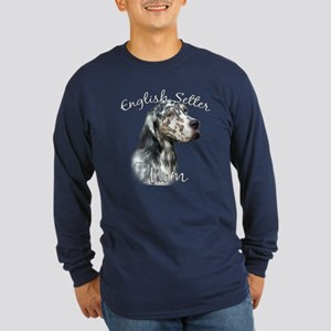 English Setter Mom2 Long Sleeve Dark T-Shirt