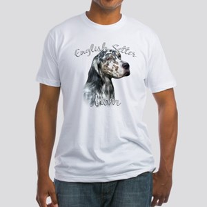 English Setter Mom2 Fitted T-Shirt
