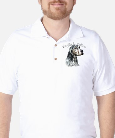 English Setter Mom2 Golf Shirt