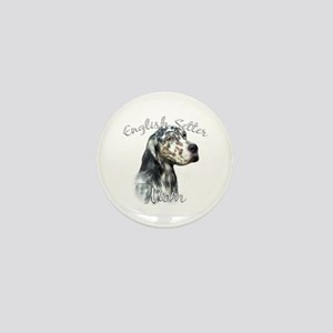 English Setter Mom2 Mini Button