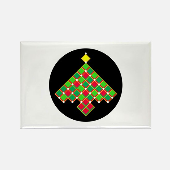 xmas quilt treesave gol Rectangle Magnet (10 pack)