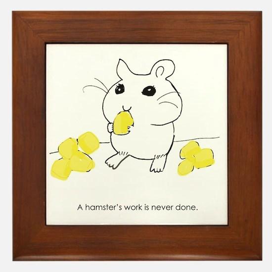 Funny Hamster Framed Tile