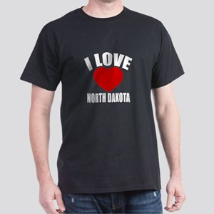 I Love NORTH DAKOTA Dark T-Shirt