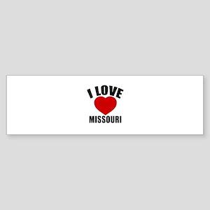 I Love Missouri Sticker (Bumper)