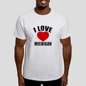 I Love Michigan Light T-Shirt