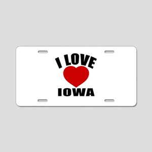 I Love Iowa Aluminum License Plate