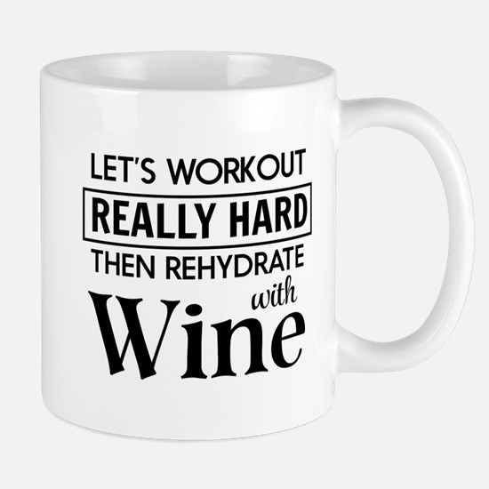 Let's workout really hard then rehydrate with wine