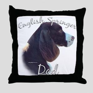 English Springer Dad2 Throw Pillow