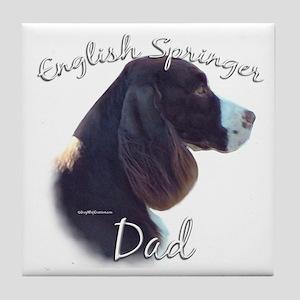 English Springer Dad2 Tile Coaster