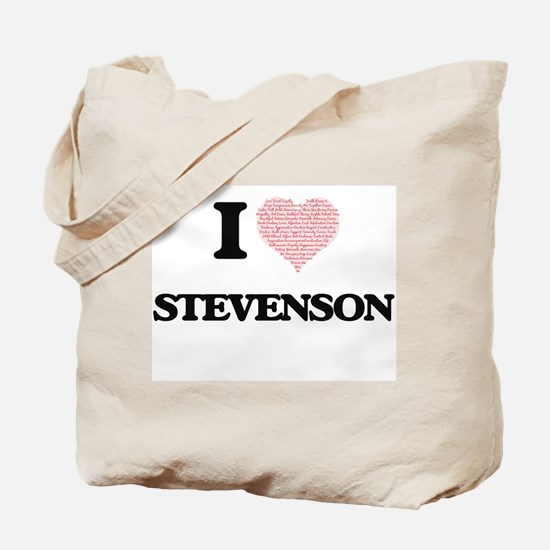 I Love Stevenson Tote Bag