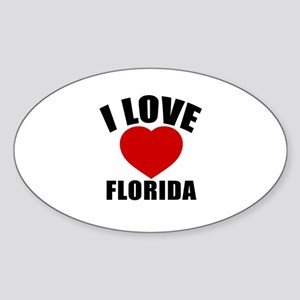 I Love Florida Sticker (Oval)
