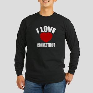 I Love Connecticut Long Sleeve Dark T-Shirt