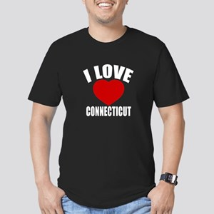 I Love Connecticut Men's Fitted T-Shirt (dark)