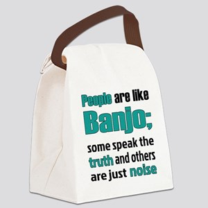 People are like Banjo Canvas Lunch Bag