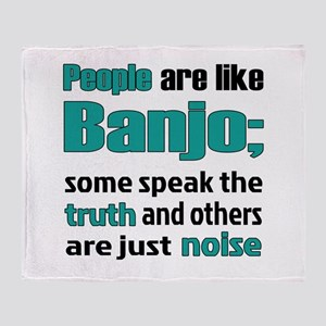 People are like Banjo Throw Blanket