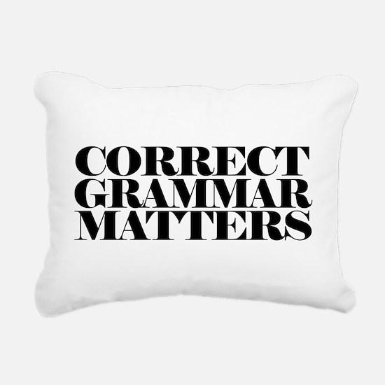 Correct Grammar Matters Rectangular Canvas Pillow