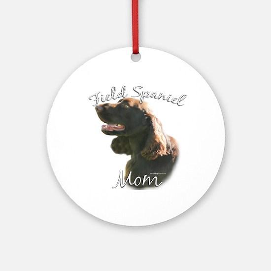 Field Spaniel Mom2 Ornament (Round)