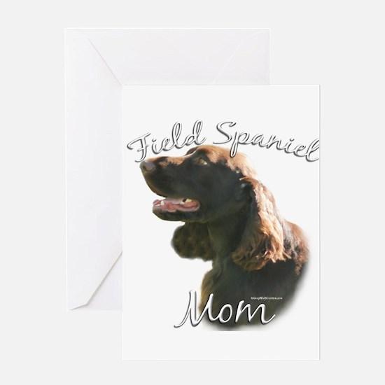 Field Spaniel Mom2 Greeting Card