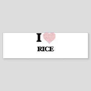I Love Rice Bumper Sticker
