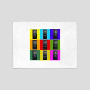 221B Door Color Block 5'x7'Area Rug