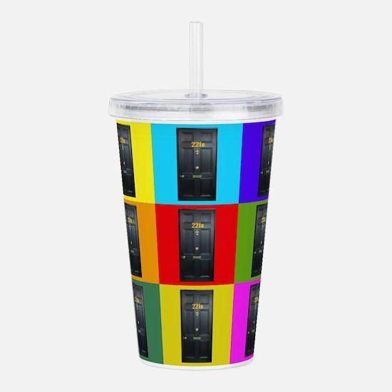221B Door Color Block Acrylic Double-wall Tumbler