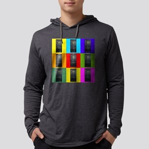 221B Door Color Block Long Sleeve T-Shirt
