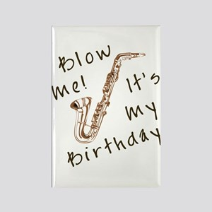 birthday horn blow me Rectangle Magnet