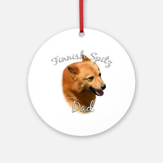 Spitz Dad2 Ornament (Round)