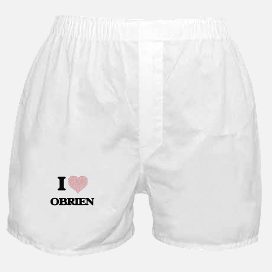 I Love Obrien Boxer Shorts