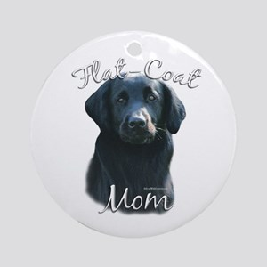 Flat-Coat Mom2 Ornament (Round)