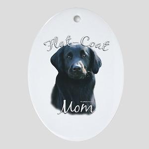 Flat-Coat Mom2 Oval Ornament